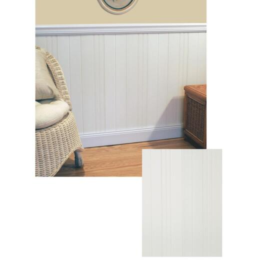 Plas-Tex PolyMAX 6 In. W. x 1/4 In. H. x 36 In. L. White Wainscot Planks (6-Pack)