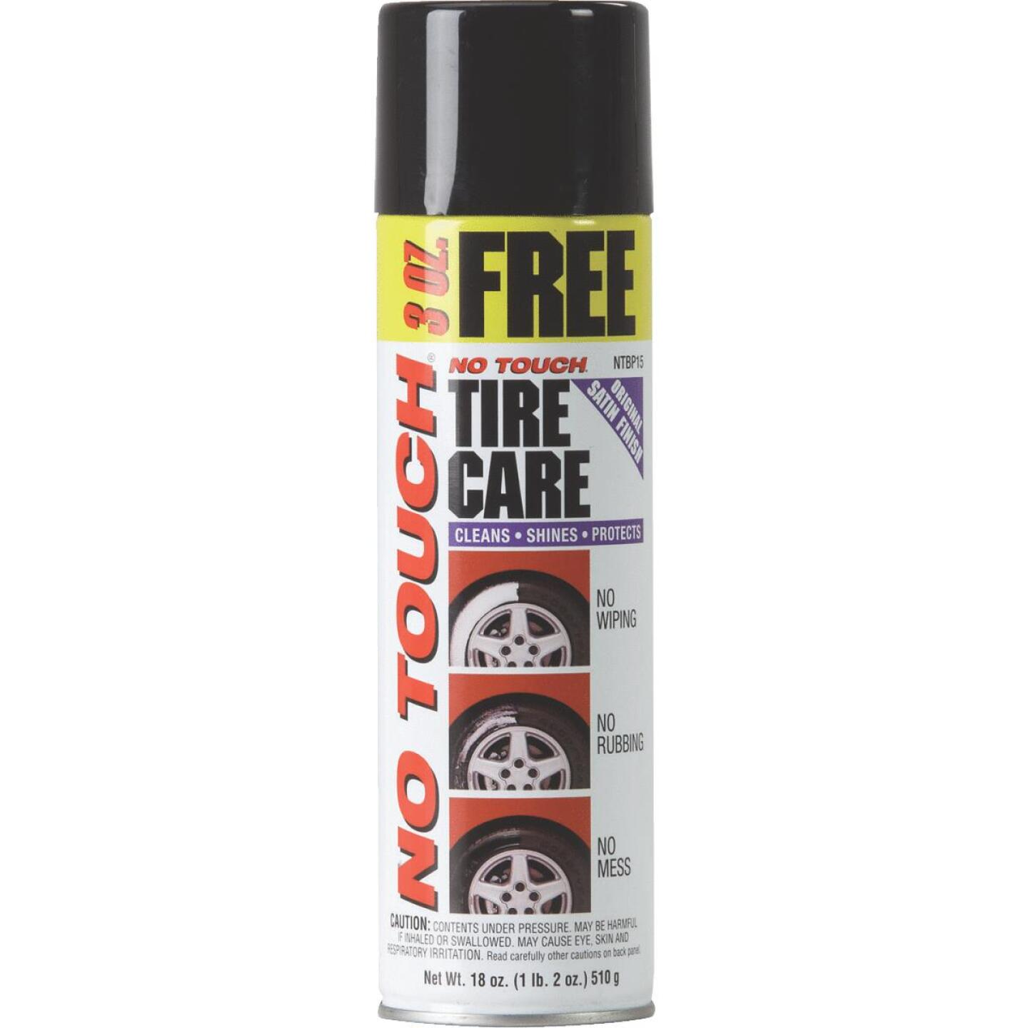 No Touch 18 oz Aerosol Spray Tire Cleaner Image 1