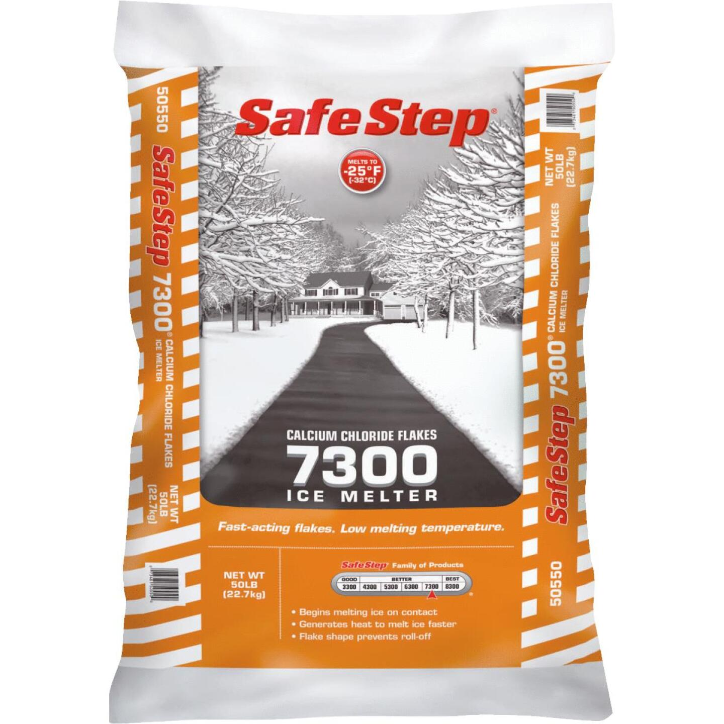 Safe Step 7300 50 Lb. Calcium Chloride Ice Melt Flakes Image 1