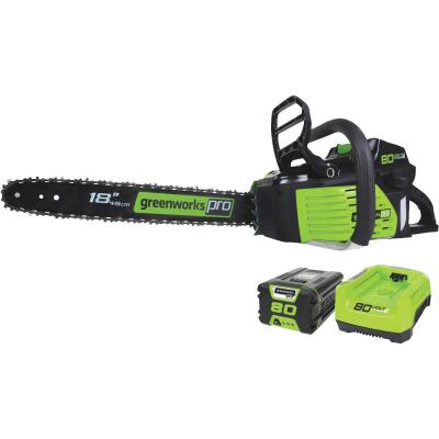 Greenworks Pro 18 In. 80V Lithium Ion Brushless Cordless Chainsaw